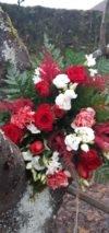 bouquet de fleurs rouge et blanc saint valentin fleuriste metz effleurs
