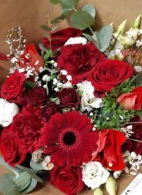 bouquet de fleurs rouge fleuriste metz