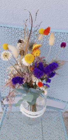 bouquet de fleurs séchées fleuriste woippy effleurs