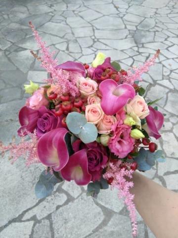 bouquet de mariee colore stephanie fleuriste metz effleurs