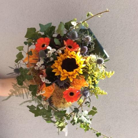 bouquet de mariee emmanuelle automnale coloré effleurs