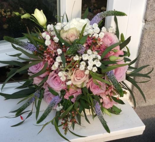 bouquet de mariee florence champetre rose et blanc fleuriste woippy