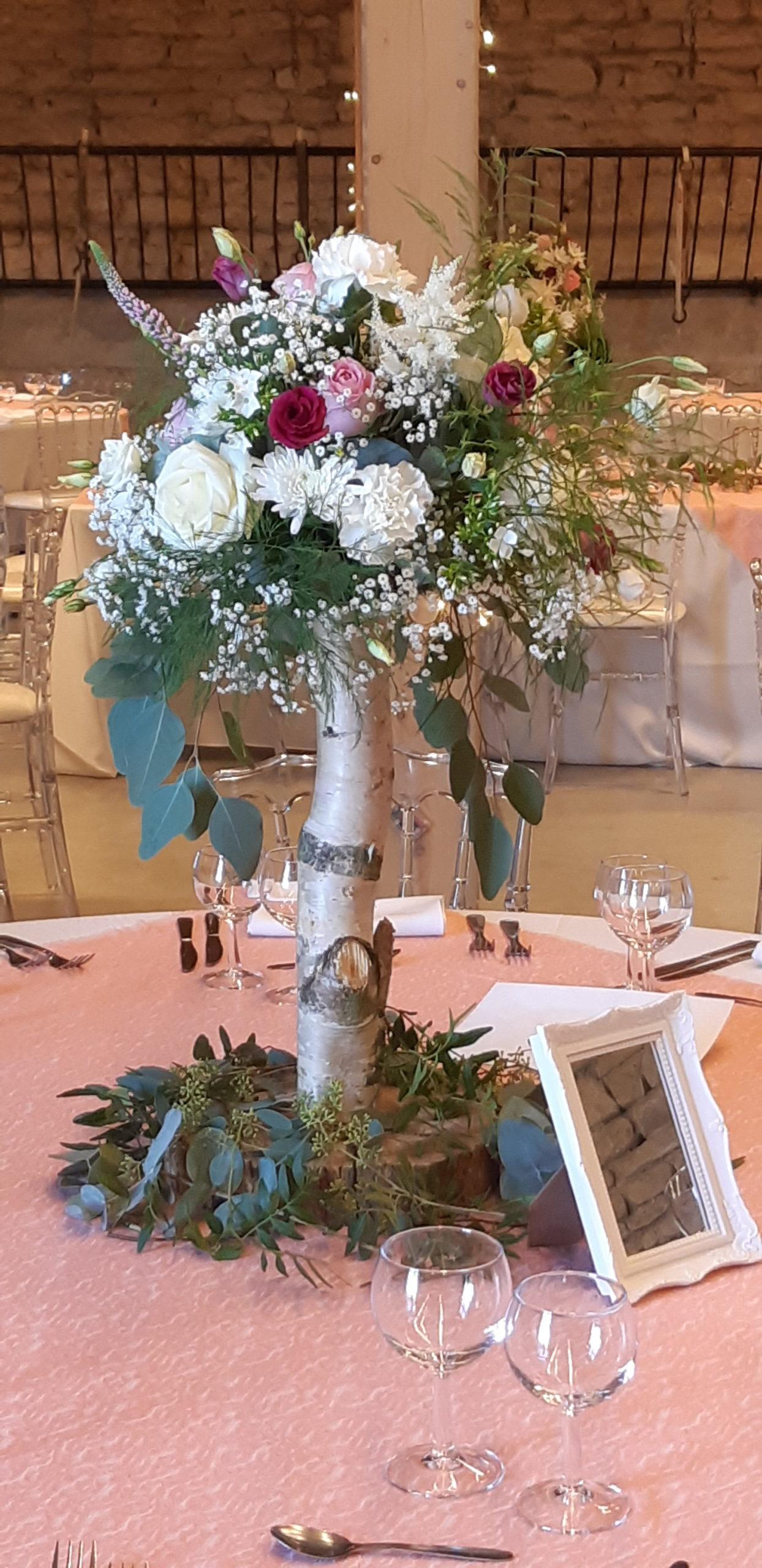 centre de table arbre fleuri fleuriste effleurs