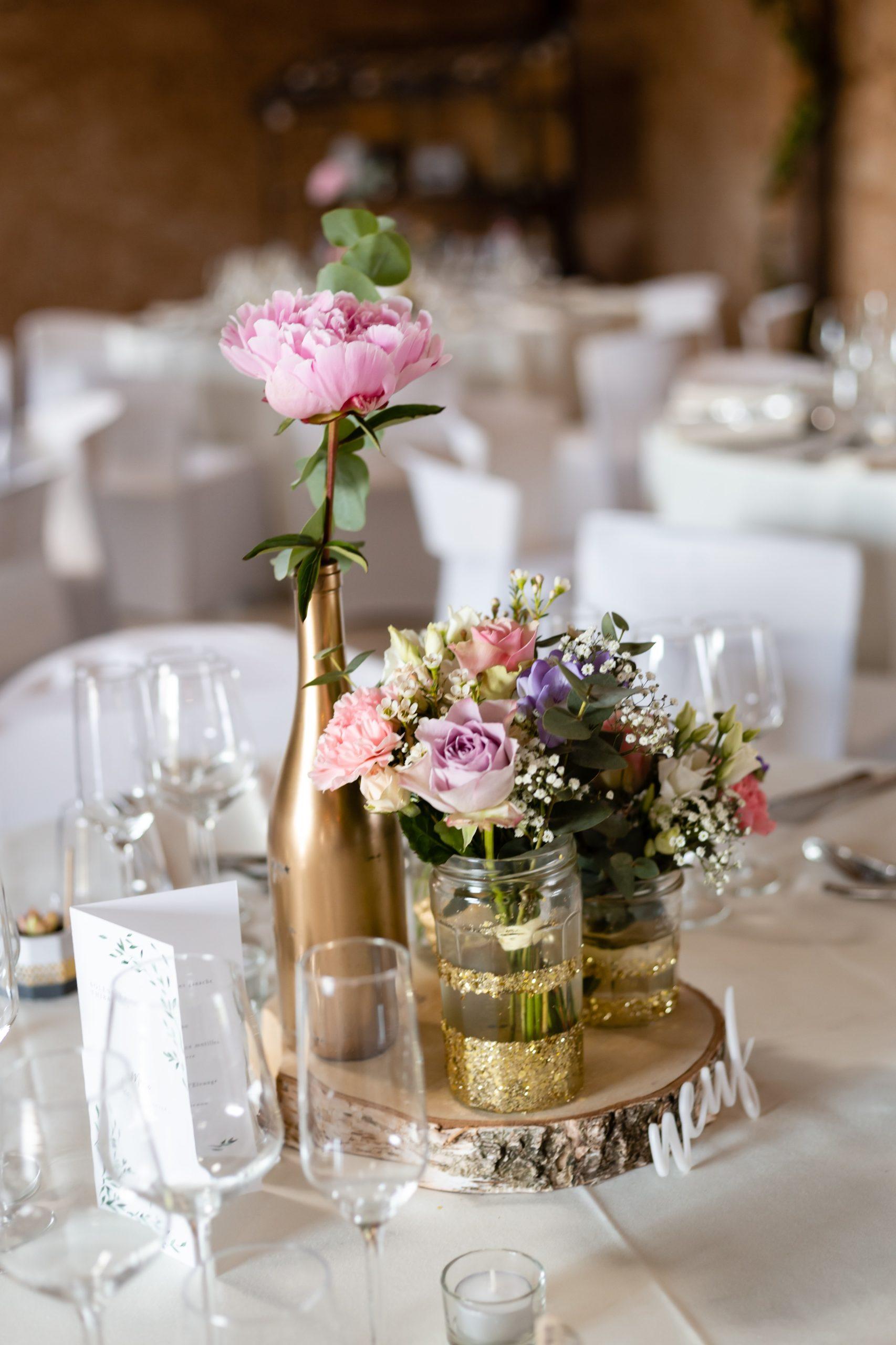 centre de table champetre chic fleuriste effleurs