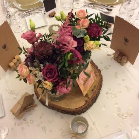 centre de table champetre colore fleuriste effleurs