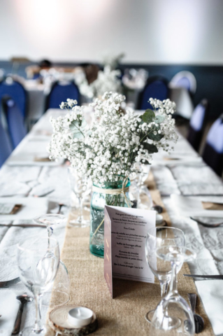 centre de table champetre gyspsophile fleuriste effleurs