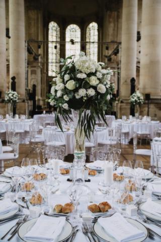 centre de table mariage blanc fleurist effleurs