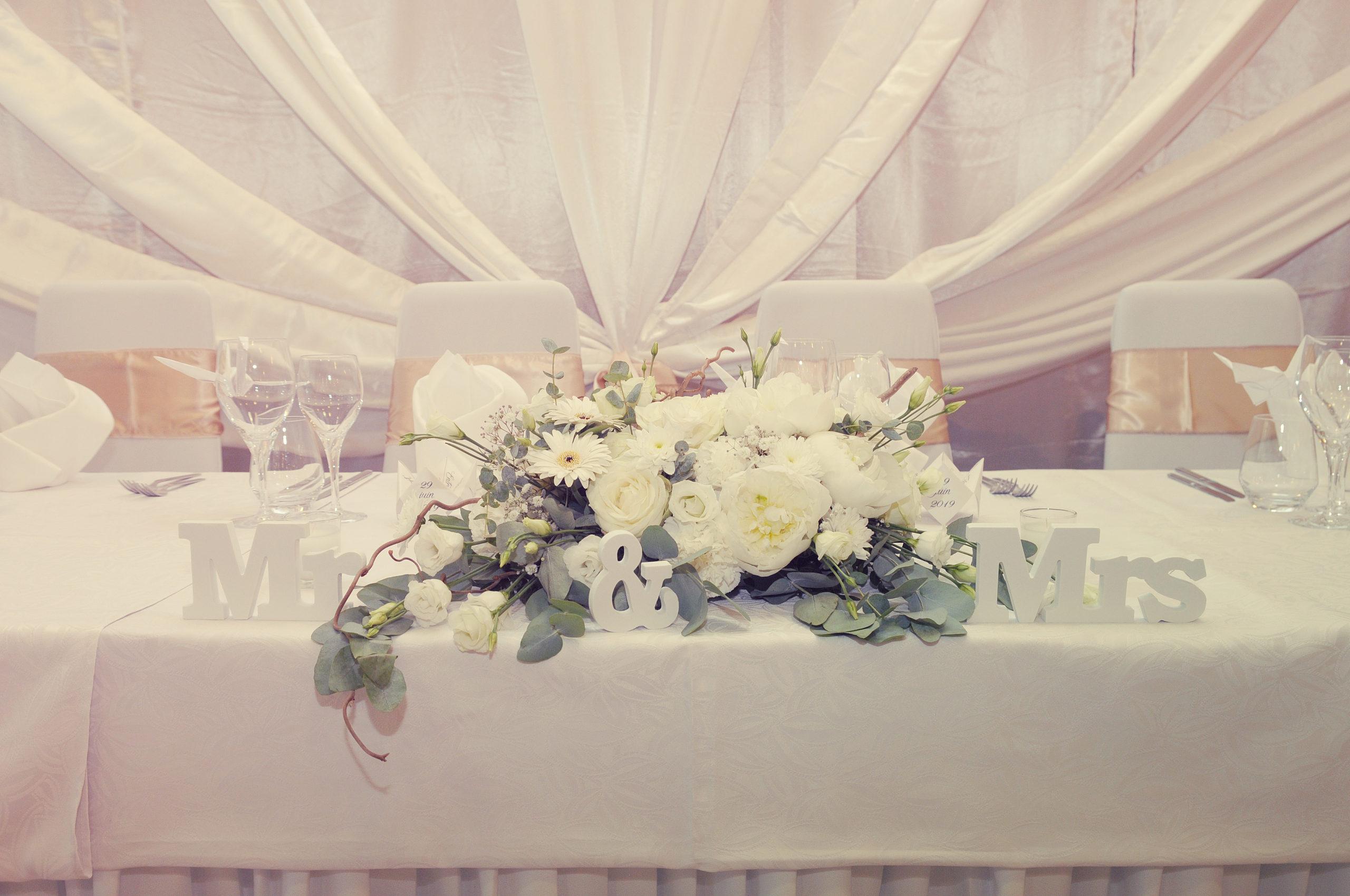 centre de table mariage champetre colore effleurs