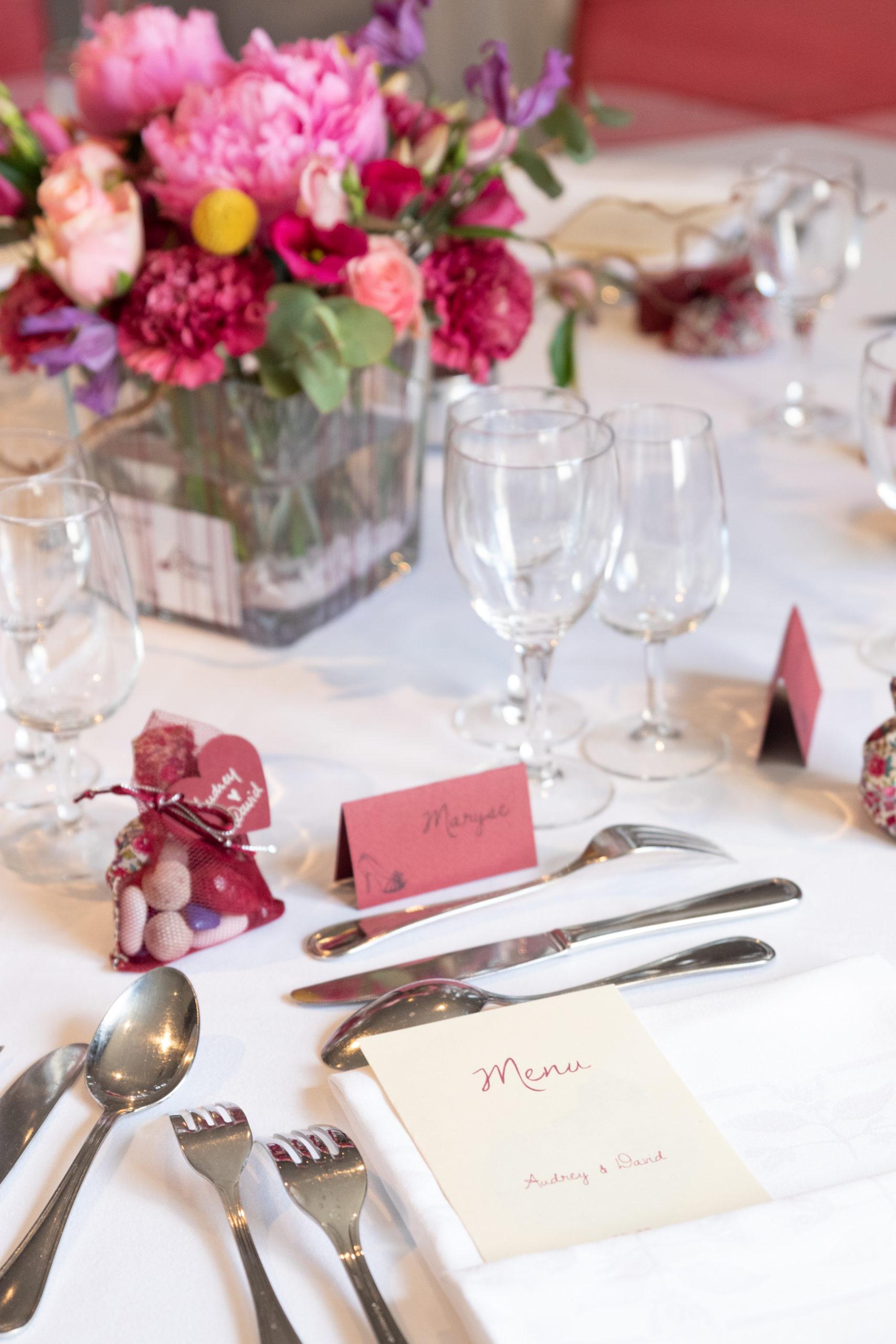centre de table mariage coloré ecoresponsable fleuriste effleurs
