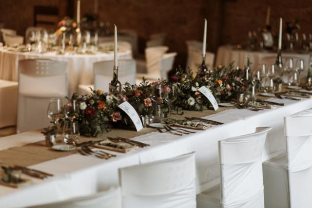 centre de table mariage guirlande fleurie fleuriste effleurs