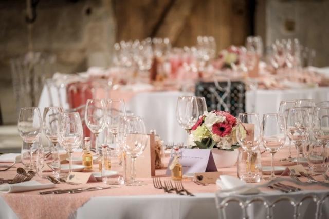 centre de table mariage rond coloré fleuriste effleurs