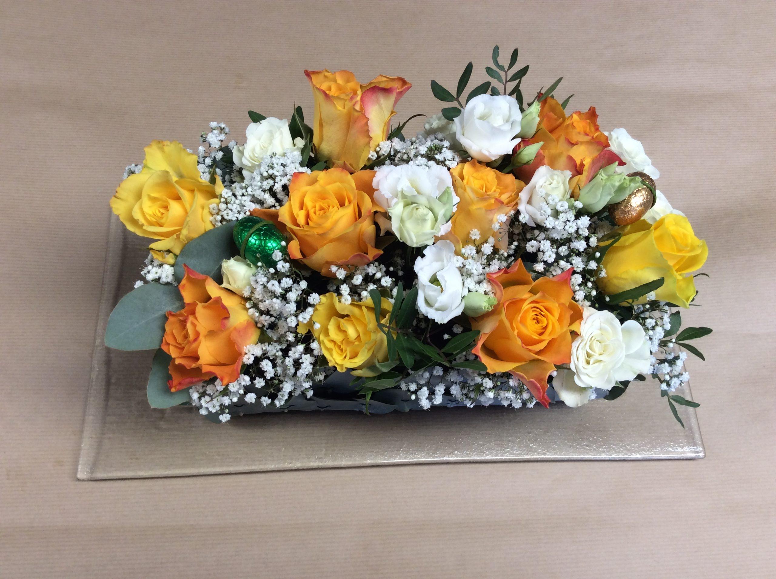 composition florale fleuriste woippy atelier creation effleurs