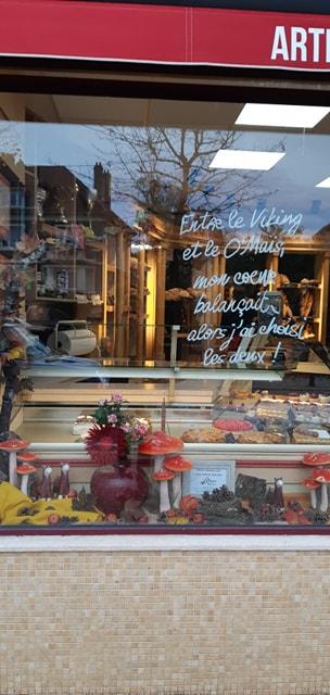 composition florale vitrine professionnels fleuriste metz effleurs