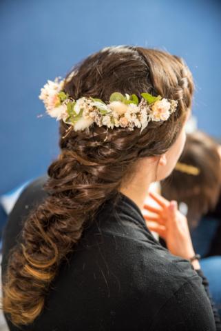 couronne de fleurs mariage effleurs
