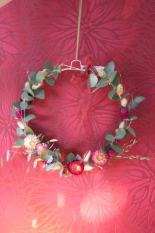 couronne de fleurs sechees fleuriste metz effleurs
