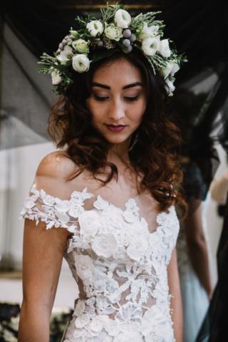 couronne de fleus mariee fleuriste metz effleurs