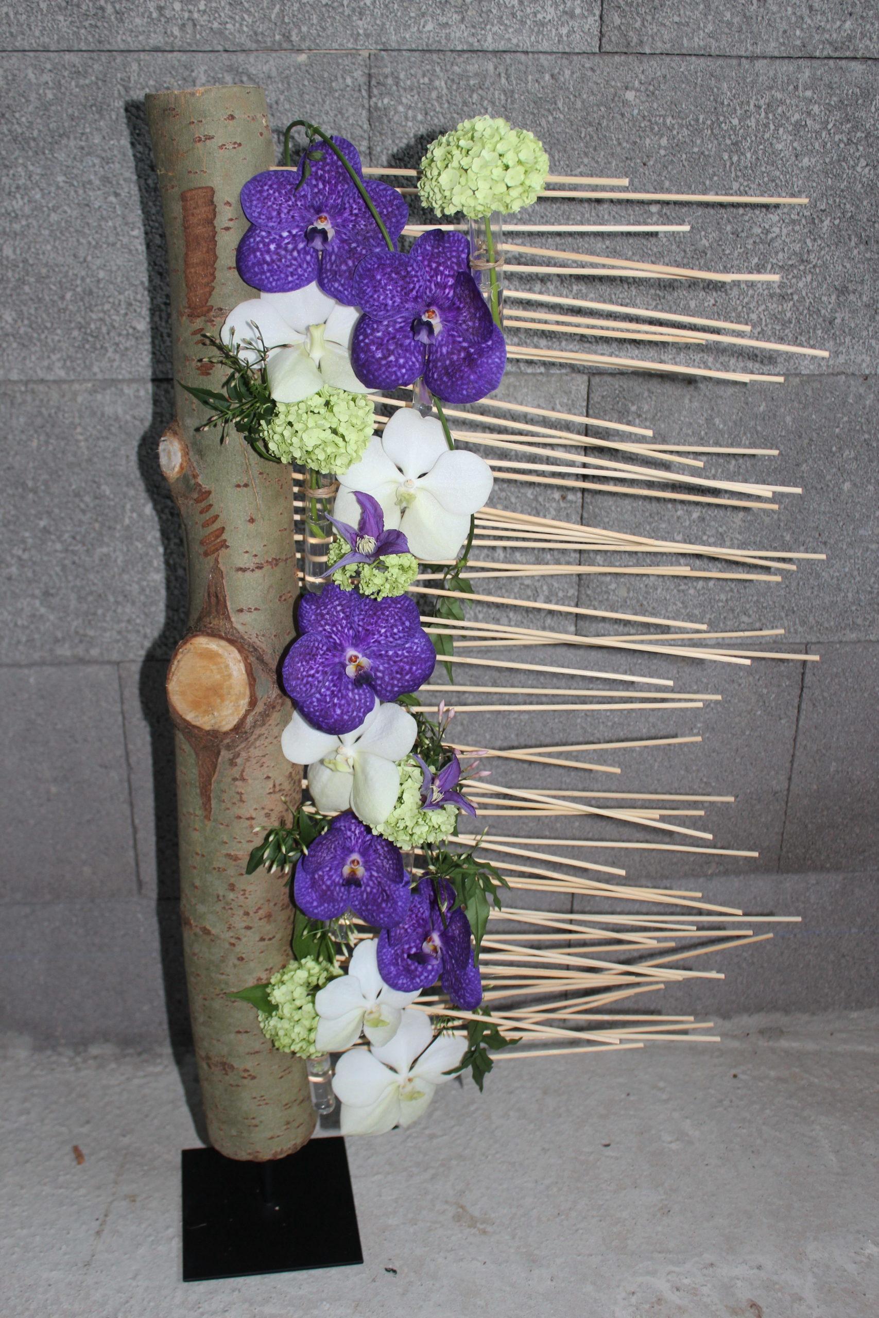 creation florale originale orchidée vanda violet professionnels fleuriste moselle effleurs
