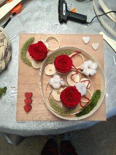 decoration florale rose éternelle fleuriste metz effleurs