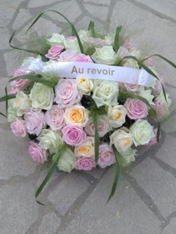 fleurs de deuil rose fleuriste metz effleurs