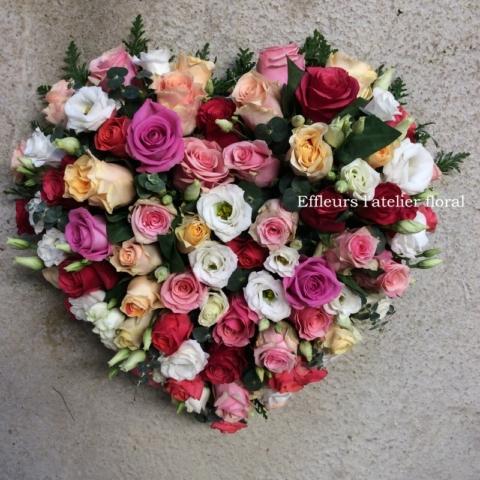 fleurs deuil coeur coloré fleuriste woippy effleurs