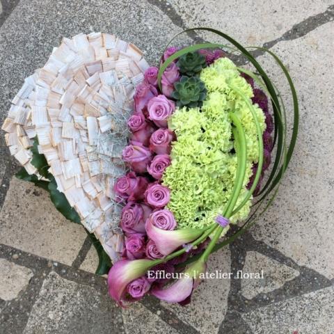 fleurs deuil coeur comptemporain fleuriste woippy effleurs