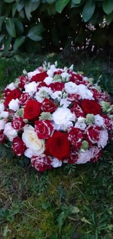 fleurs deuil coussin fleuriste moselle effleurs