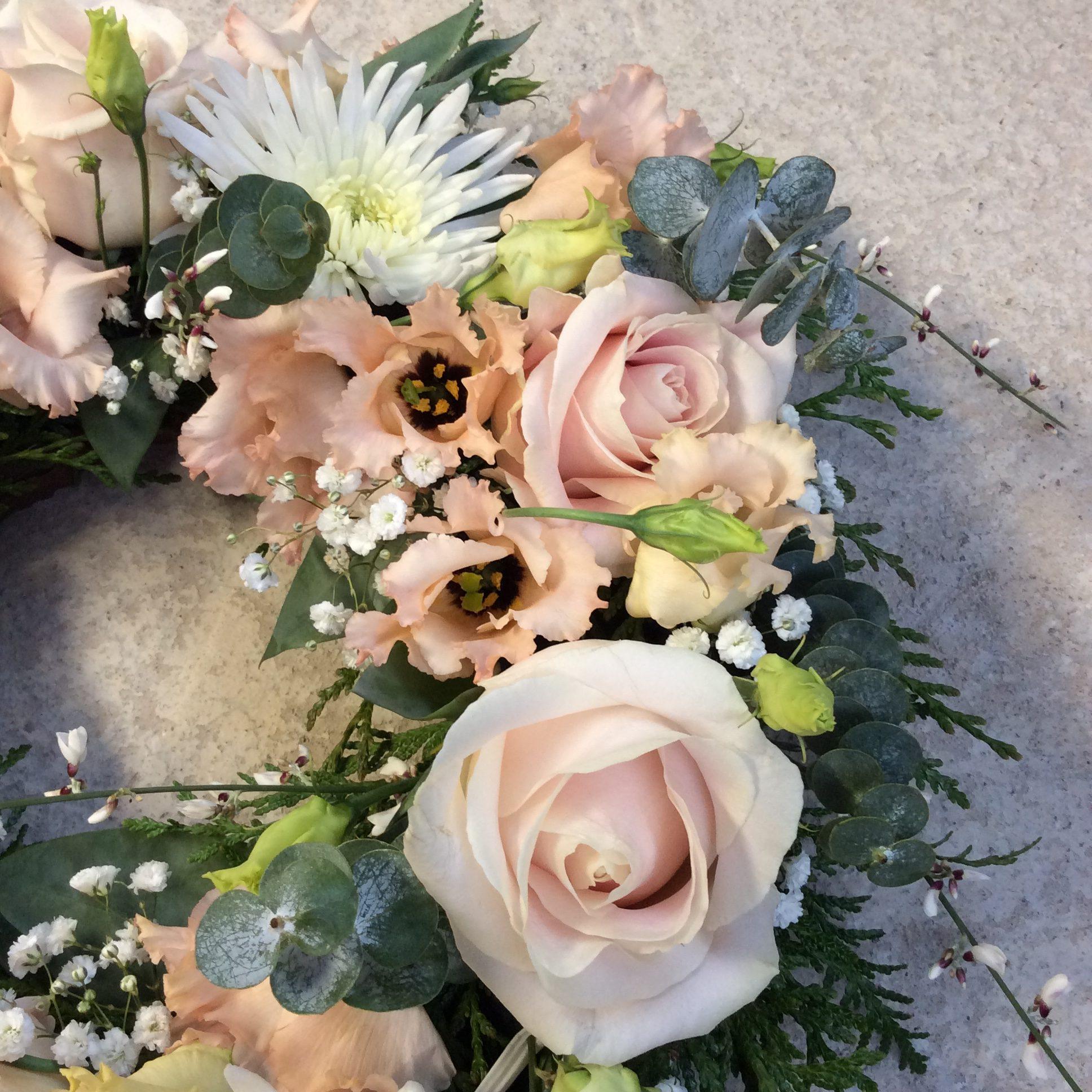 gerbe de fleurs rose et blanc fleuriste woippy effleurs