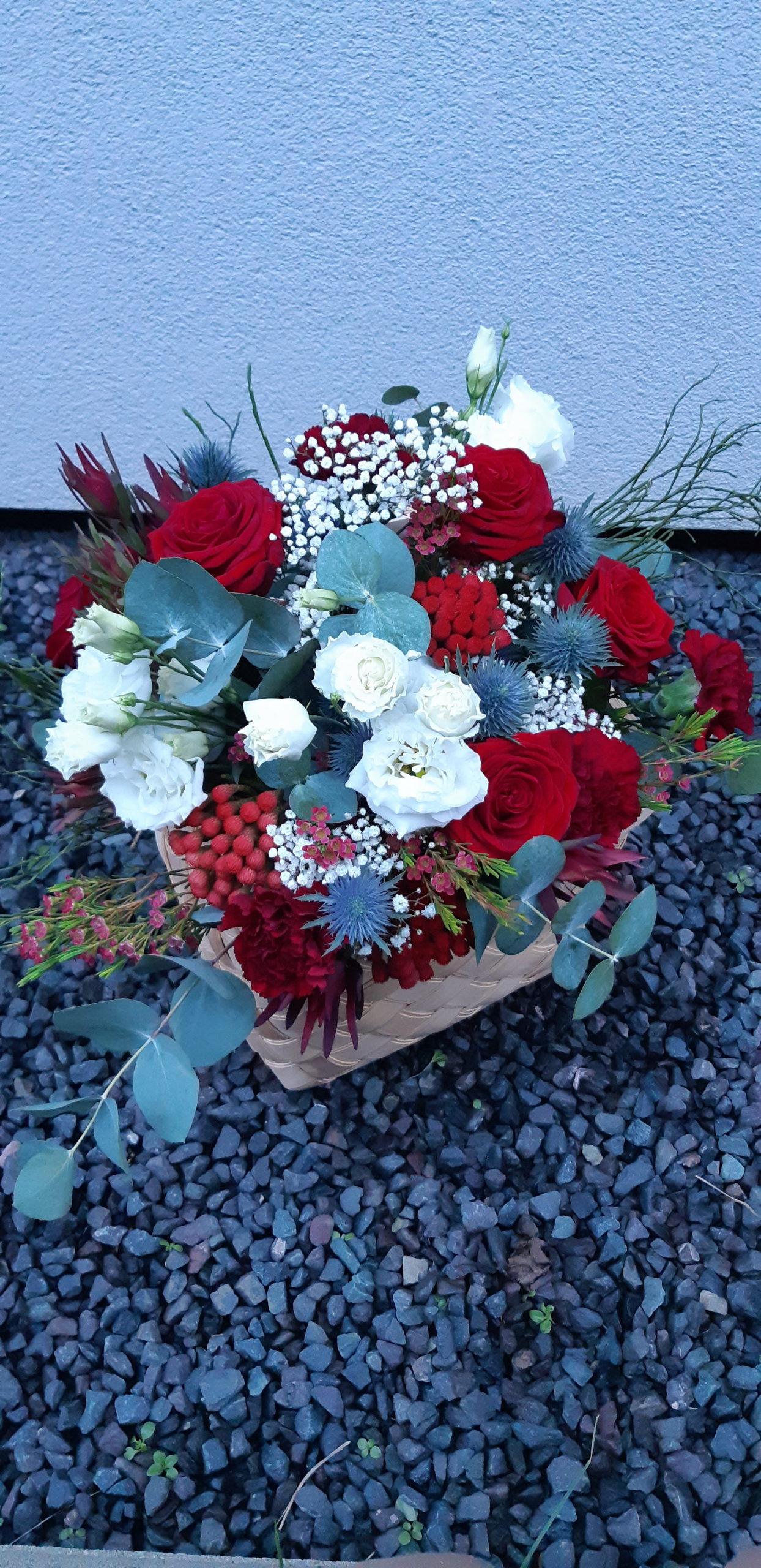 Bouquet de noël rouge - Effleurs