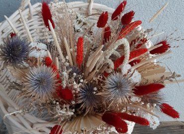 Bouquet Mathilde fleurs séchées cache pot - Effleurs