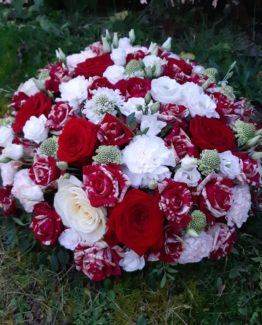Coussin fleuri deuil - Effleurs