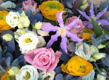 Bouquet violet fleur saison - Effleurs